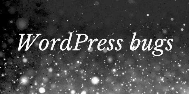 wordpress-bugs