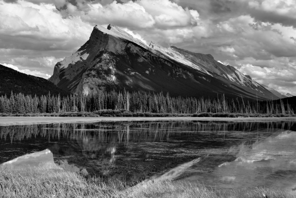 Mark Stevens - Mount Rundle and Vermillion Lakes (Black & White), https://flic.kr/p/rzBiiH
