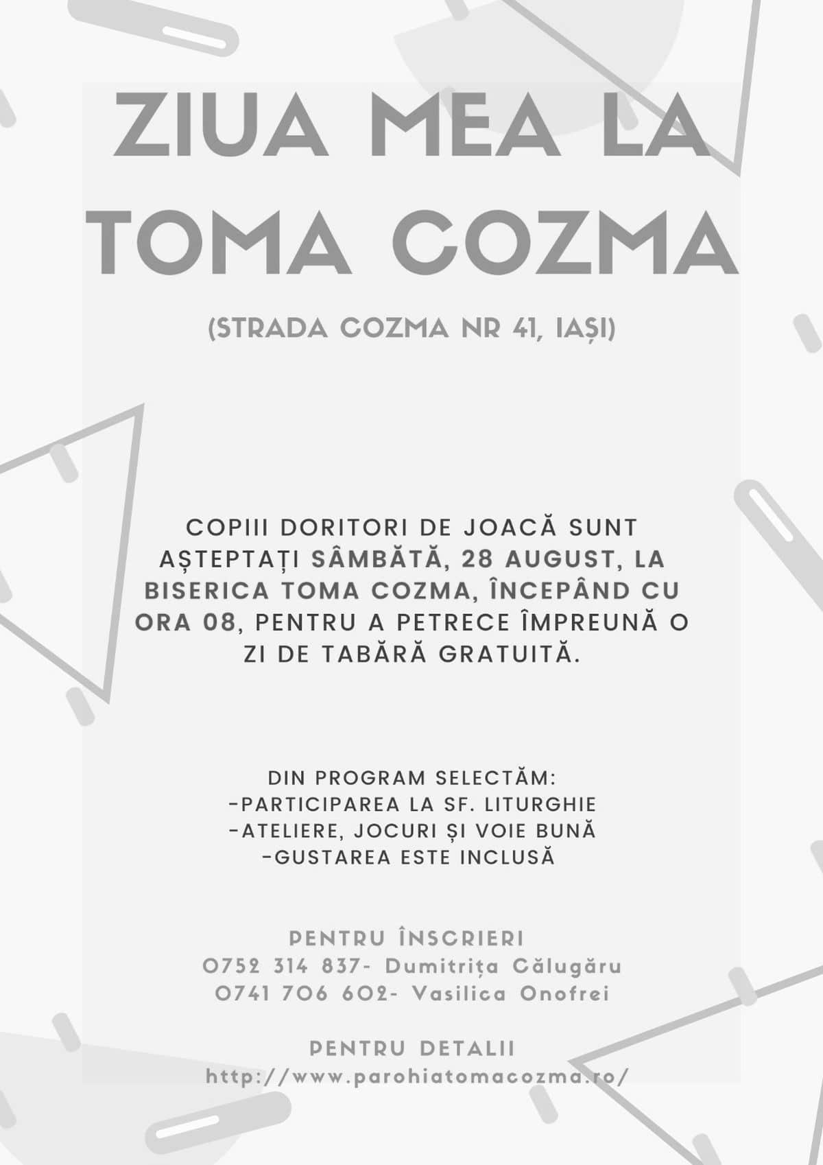 Ziua mea la Toma Cozma
