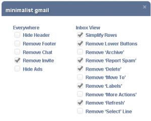 Setari Minimalist Gmail