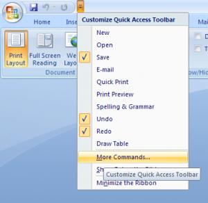Setare Microsoft Word
